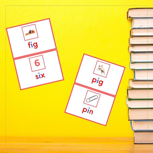 CVC Mini Book - Letter I - Montessori - Homeschooling - Book