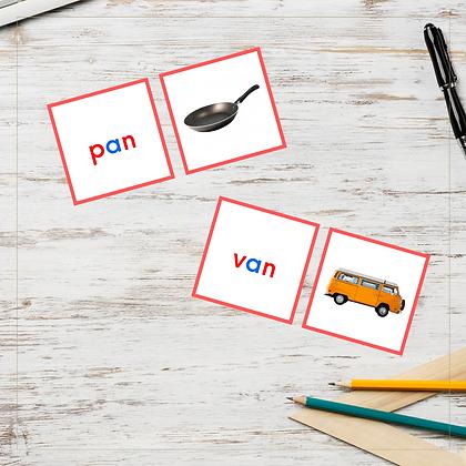 CVC Cards - Letter A - Montessori - Homeschooling
