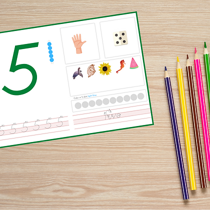 Early Math Number Mats - Montessori - Homeschooling - Number Mats