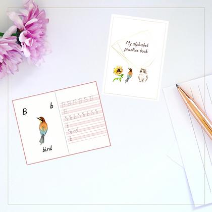 Alphabet Mini Writing Book In Print- Montessori - Homeschooling - Writing Book