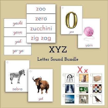 Language Bundle - Letters XYZ