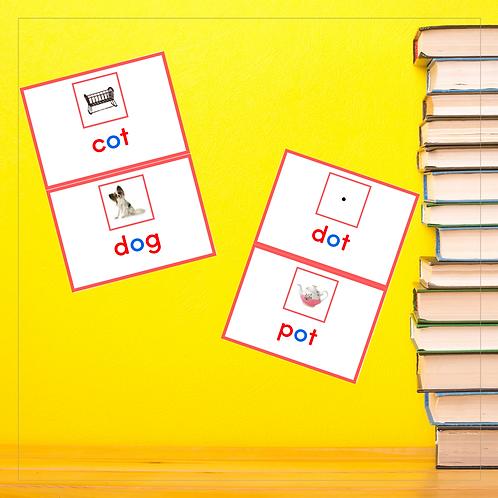 CVC Mini Book - Letter O - Montessori - Homeschooling - Book