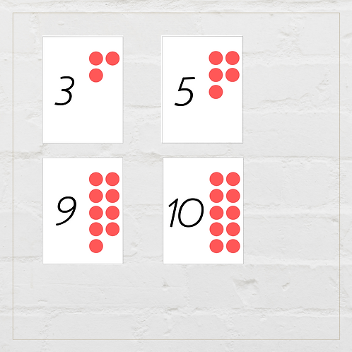 Math With Counters (Cards) - Montessori - Homeschooling - Cards