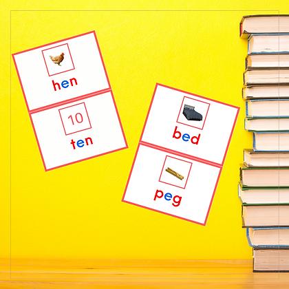 CVC Mini Book - Letter E - Montessori - Homeschooling - Book