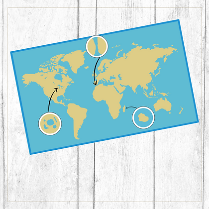 Land and Water Forms On The Map Of The World - Montessori - Homeschooling