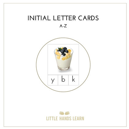 A - Z Initial Letter Cards in Print