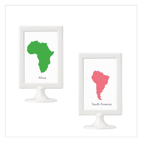 Continents - 10x15 Posters