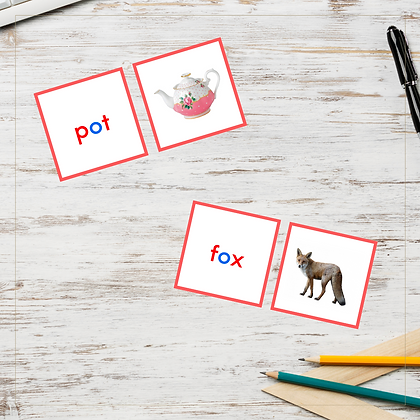 CVC Cards - Letter O - Montessori - Homeschooling