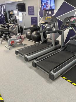 Life Fitness treadmills, Airdyne 2.0 bike and Cybex eliptical machine