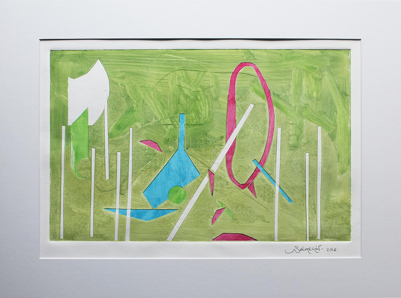 Obra abstracta en papel Nº 11