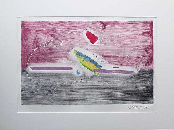 Obra abstracta en papel Nº 12