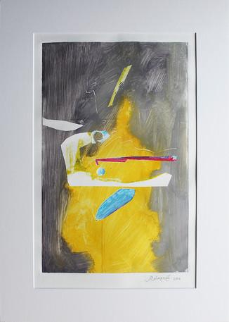 Obra abstracta en papel Nº 24