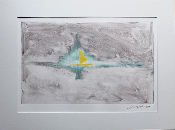 Obra abstracta en papel Nº 02