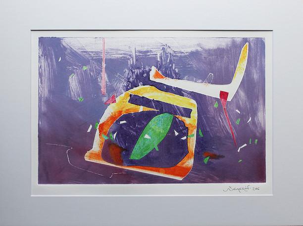 Obra abstracta en papel Nº 10