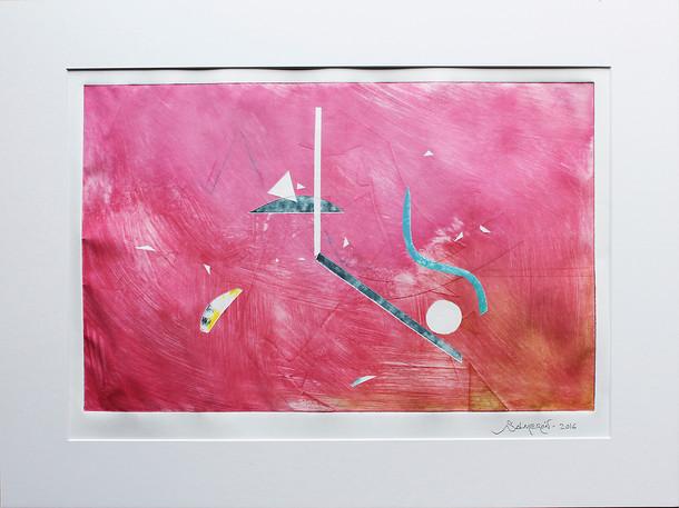 Obra abstracta en papel Nº 01