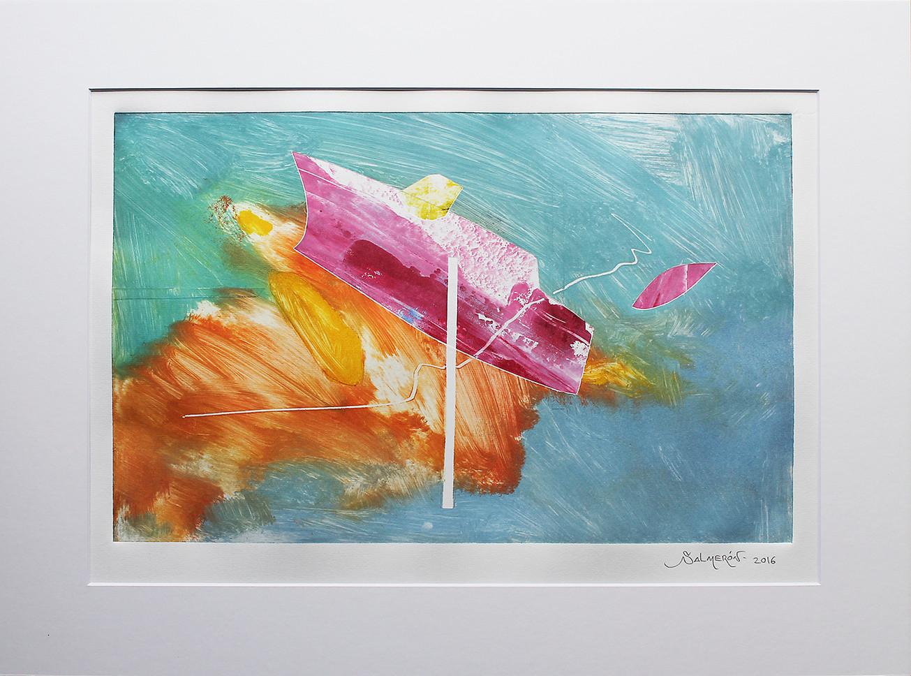 Obra abstracta en papel Nº 15