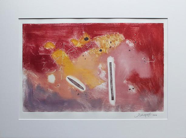 Obra abstracta en papel Nº 04