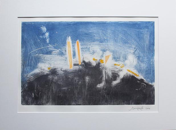 Obra abstracta en papel Nº 03