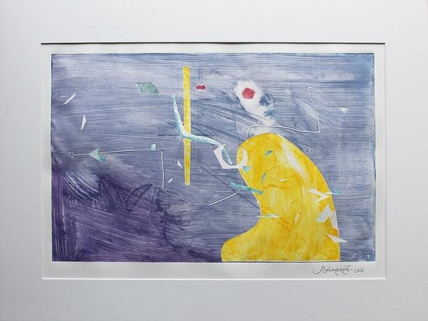 Obra abstracta en papel Nº 18