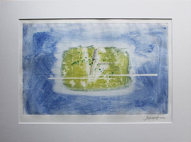 Obra abstracta en papel Nº 05