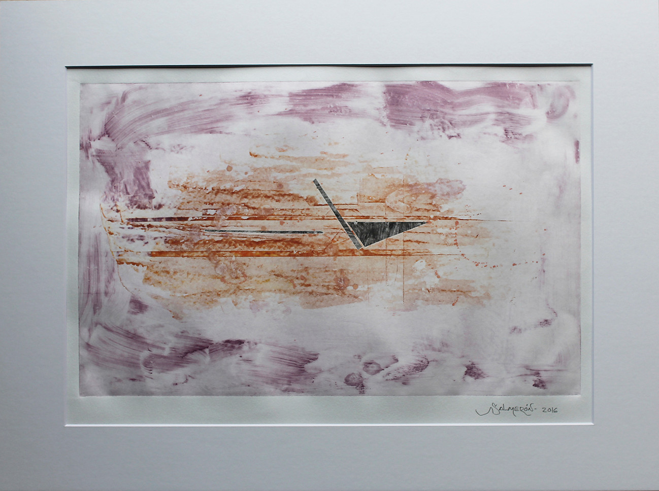 Obra abstracta en papel Nº 06