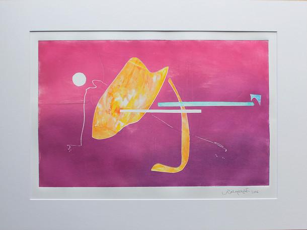 Obra abstracta en papel Nº 08