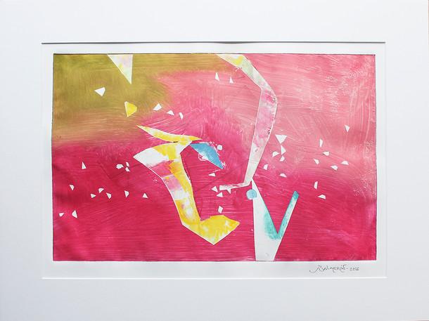 Obra abstracta en papel Nº 17