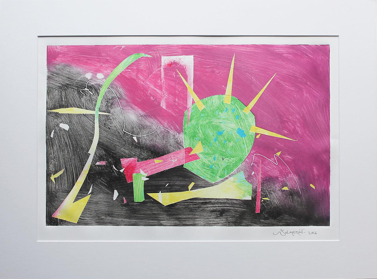 Obra abstracta en papel Nº 09