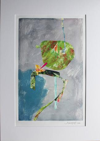 Obra abstracta en papel Nº 22