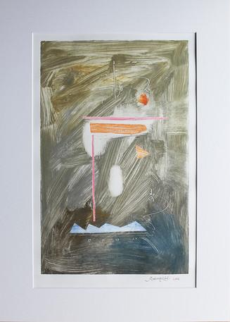 Obra abstracta en papel Nº 20