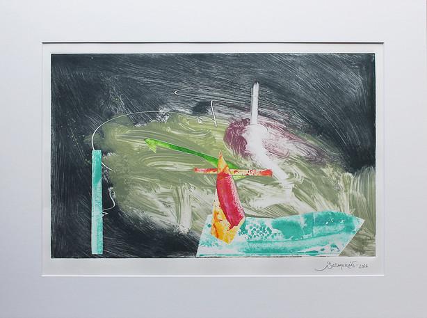Obra abstracta en papel Nº 07
