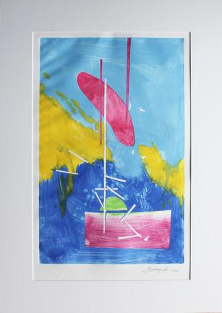 Obra abstracta en papel Nº 25