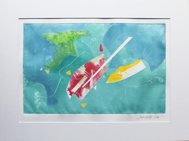 Obra abstracta en papel Nº 14