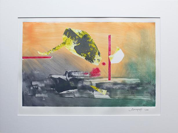 Obra abstracta en papel Nº 13