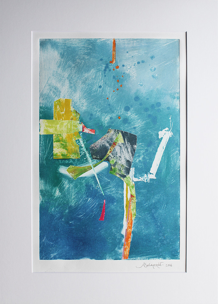Obra abstracta en papel Nº 23