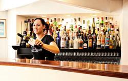 Waitress with wine