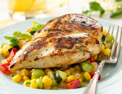 Butter & Herb Grilled Chicken with Summer Succotash