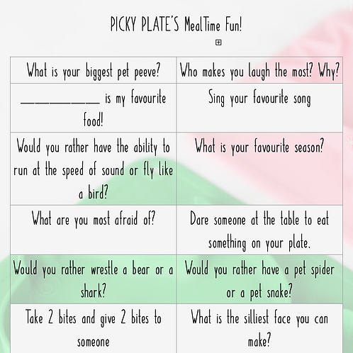 Mealtime Fun! (Pages Format)