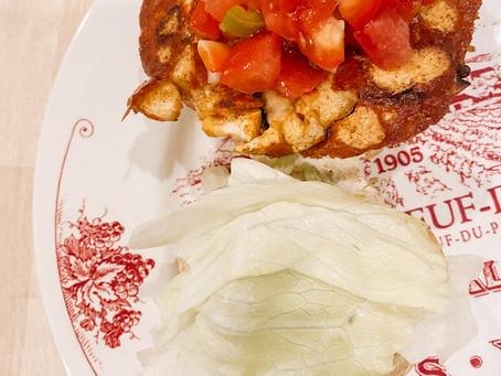 """Mexican """"Shrimp"""" Torta"""