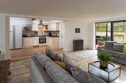 Open plan Kitchen, Living Area