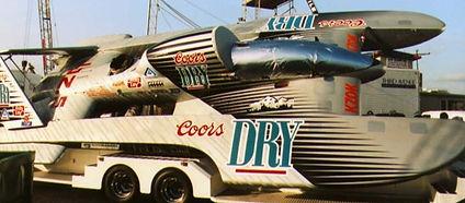 1992 U-102.5 Coors Dry MH 92102.5 rcboat
