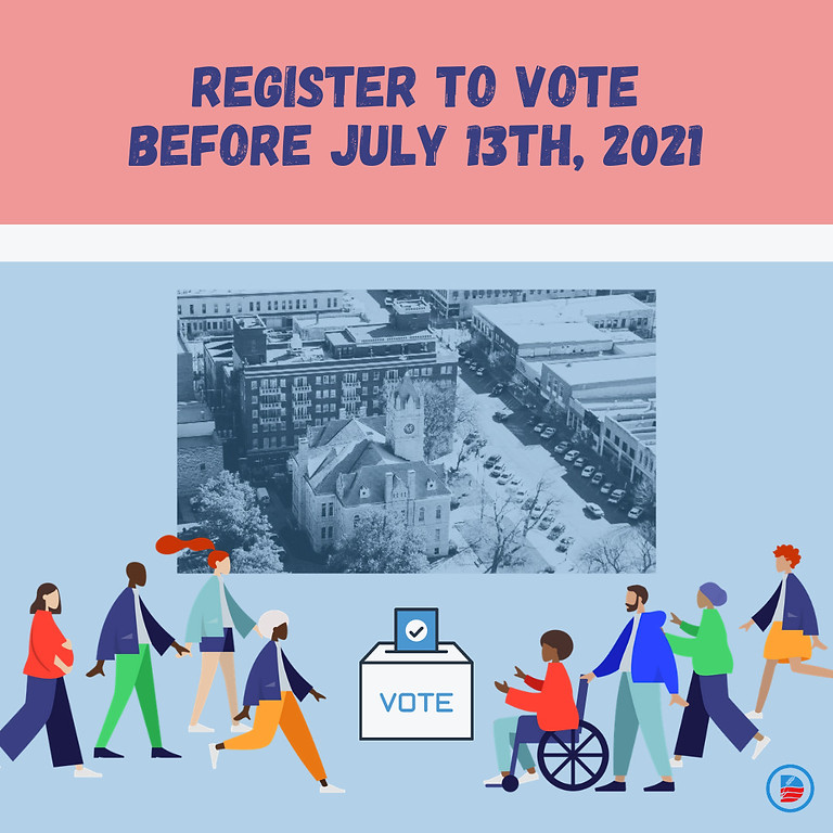 Last day to register to vote in the primary election