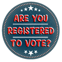 Are you registered to vote button