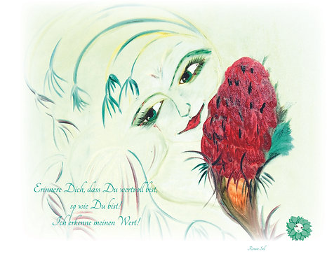 Bachblüte Larch Leinwanddruck