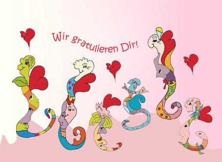 Die Wummelsandwürmer wünschen euch den allerschönsten Tag