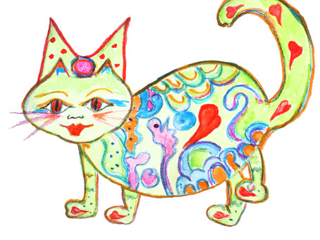 Maja, dir kleine Katze lässt euch schön grüßen ...