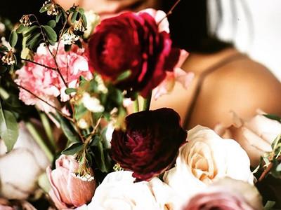Palette_ blush, burgundy, ivory _#bridal