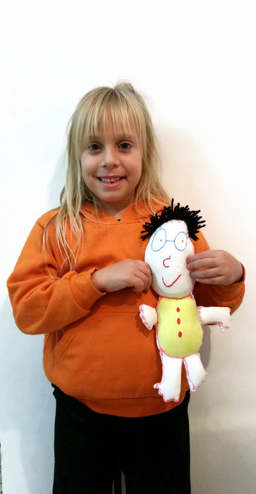 custom doodle doll toy