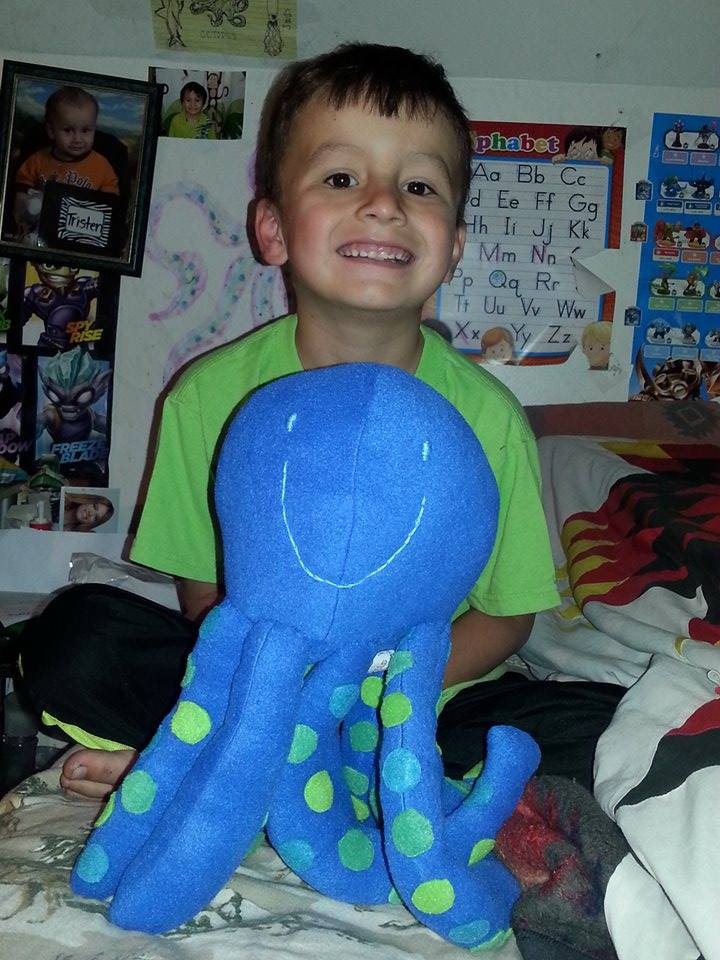 Thomas and his Octopus toy