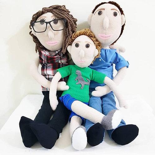 בובות דיוקן משפחה של 3